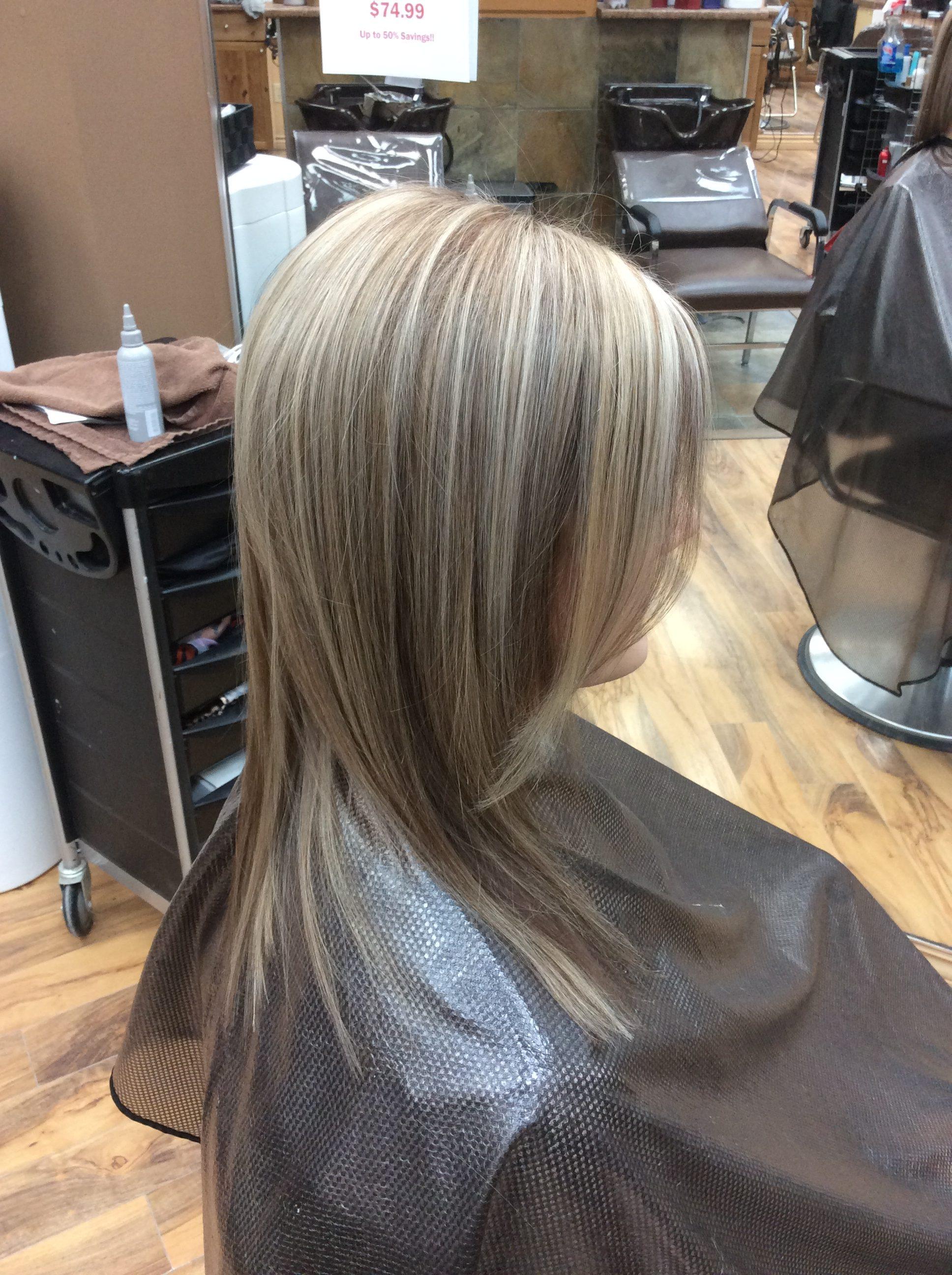 Blonde brunette hair at hairstyle inn saskatoon