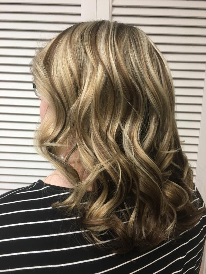 Blonde hairstyle at hairstyle inn saskatoon