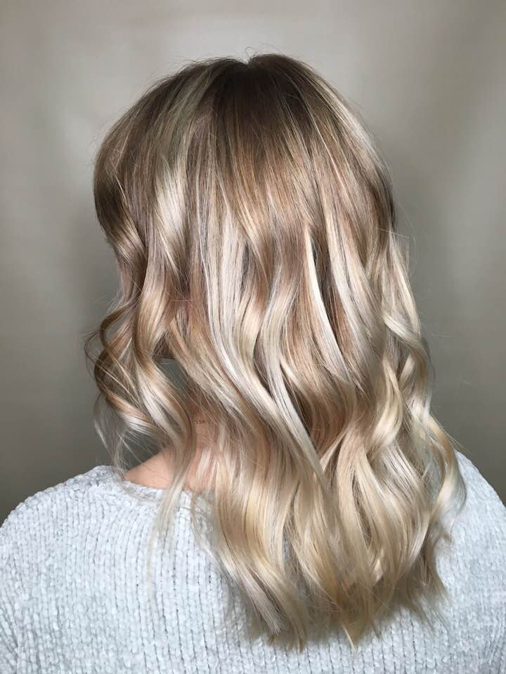 Blonde hair with highlights at hairstyle inn saskatoon