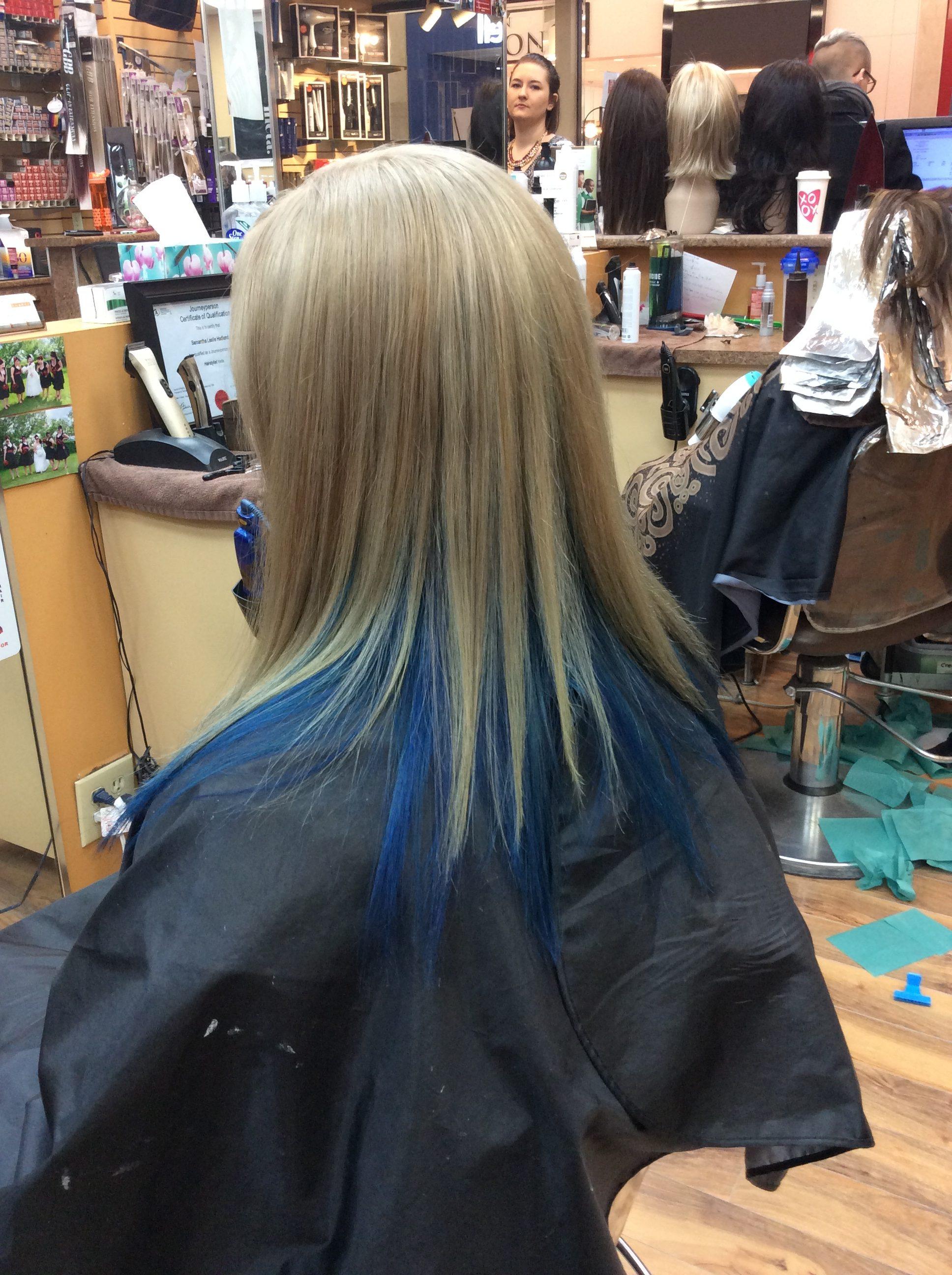Blue blonde hair at hairstyle saskatoon