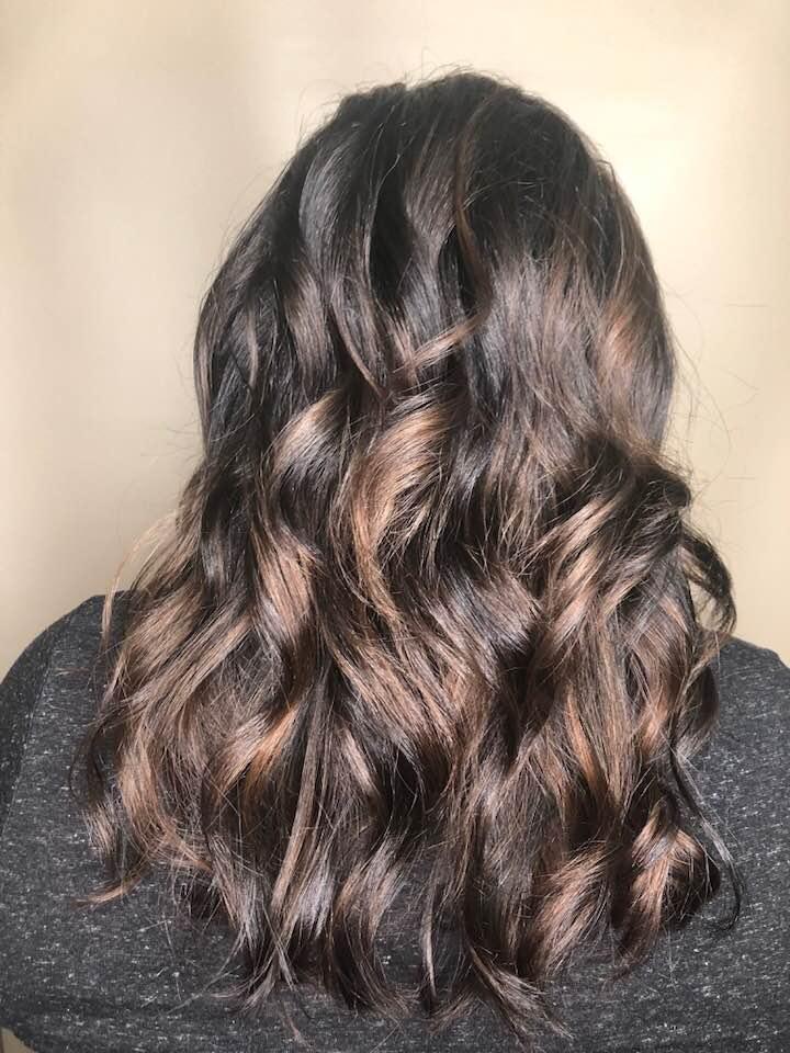 Brunette hair at hairstyle inn saskatoon