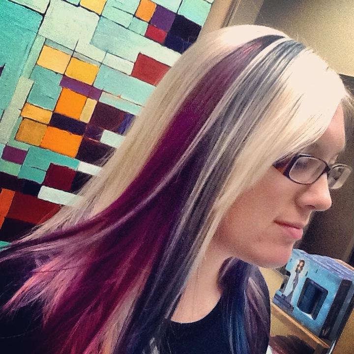 Color block hair at hairstyle inn saskatoon