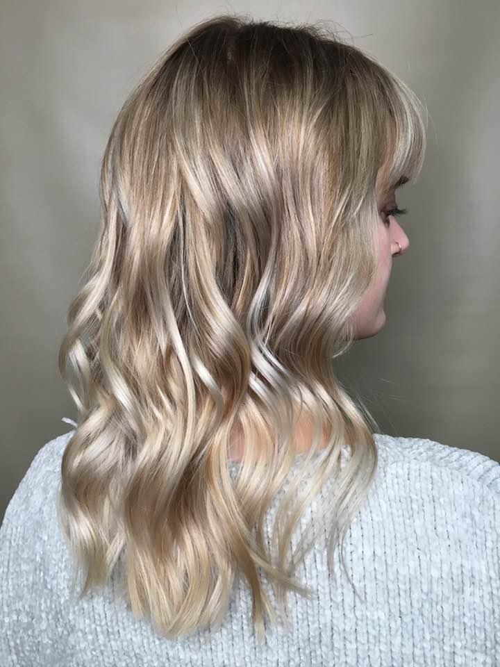 Blonde long hair colour Saskatoon