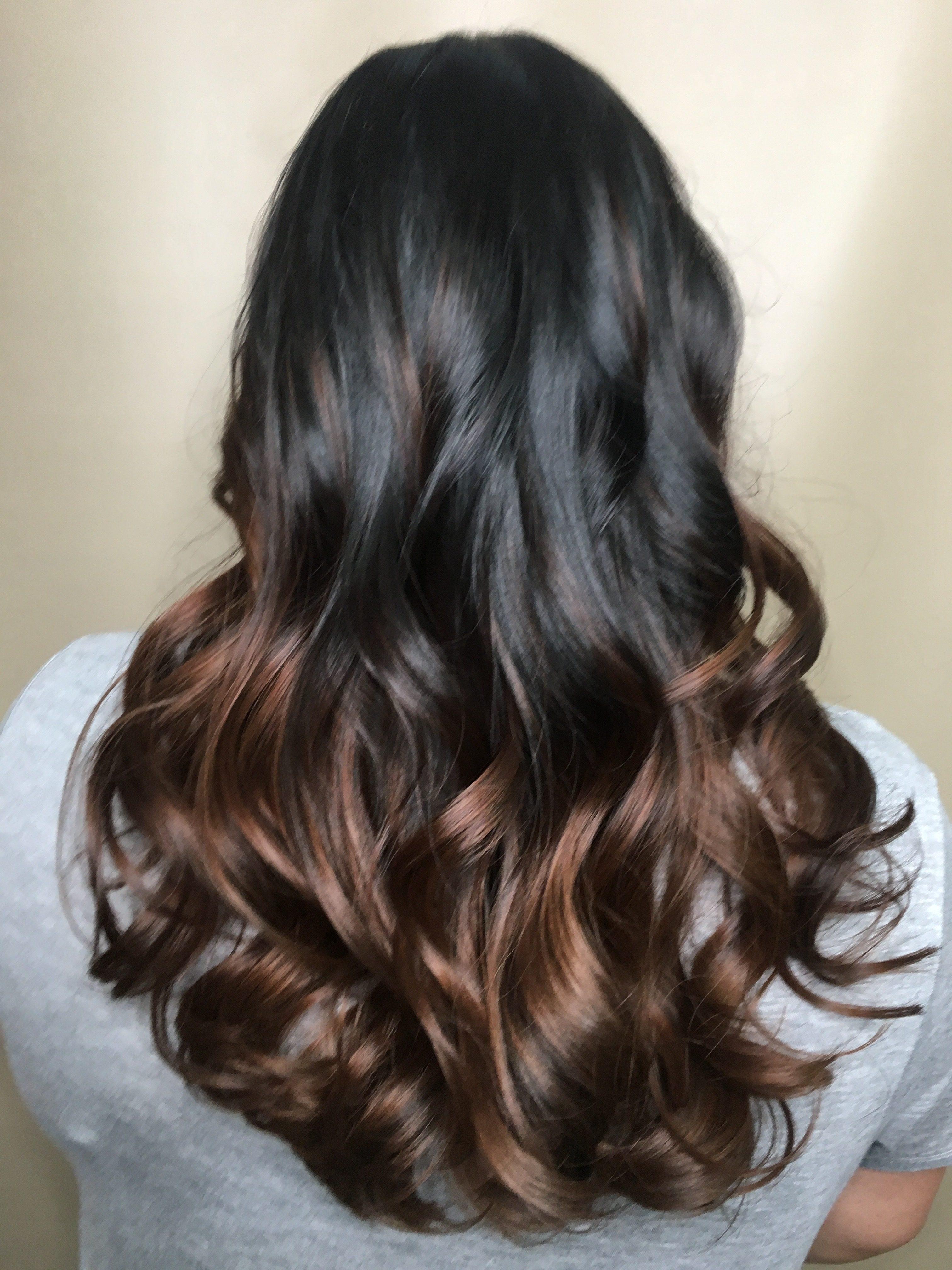 best Saskatoon salon Dark ombre colour
