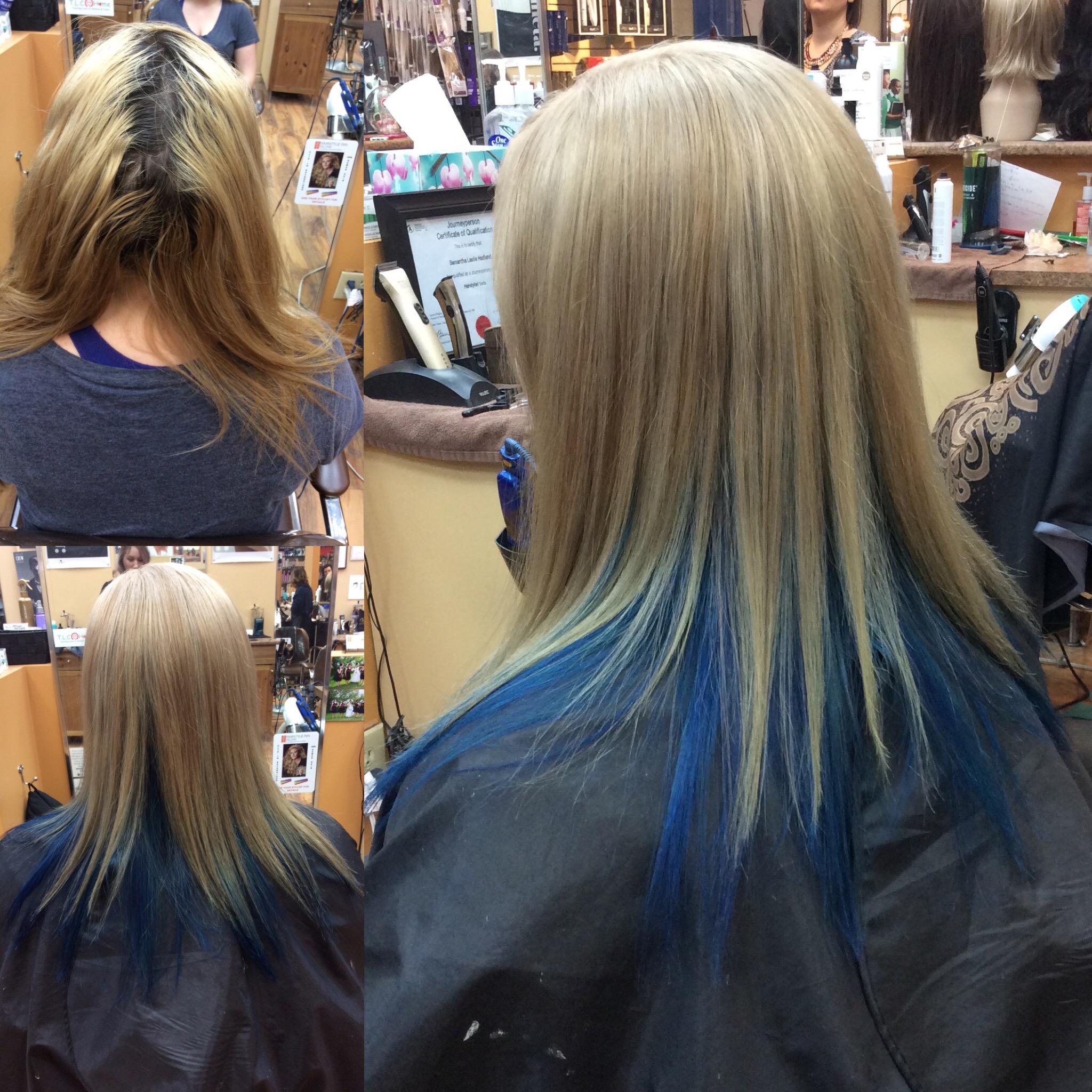 Female customer with transformed hair at hairstyle inn saskatoon