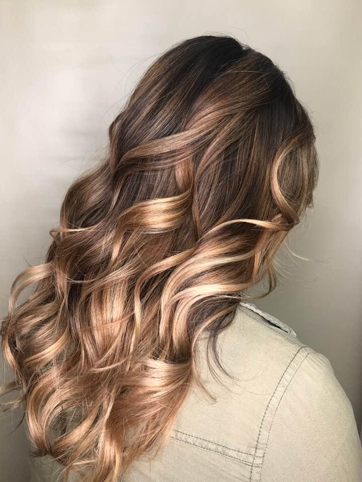 Long hair style Saskatoon hairdressers