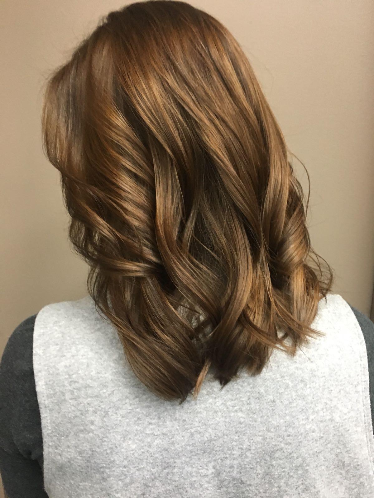 mid length hair style Saskatoon salon