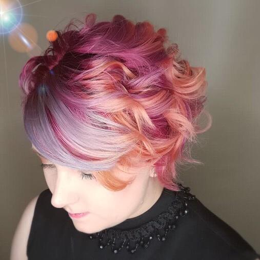 Short coloured hair stylist Saskatoon