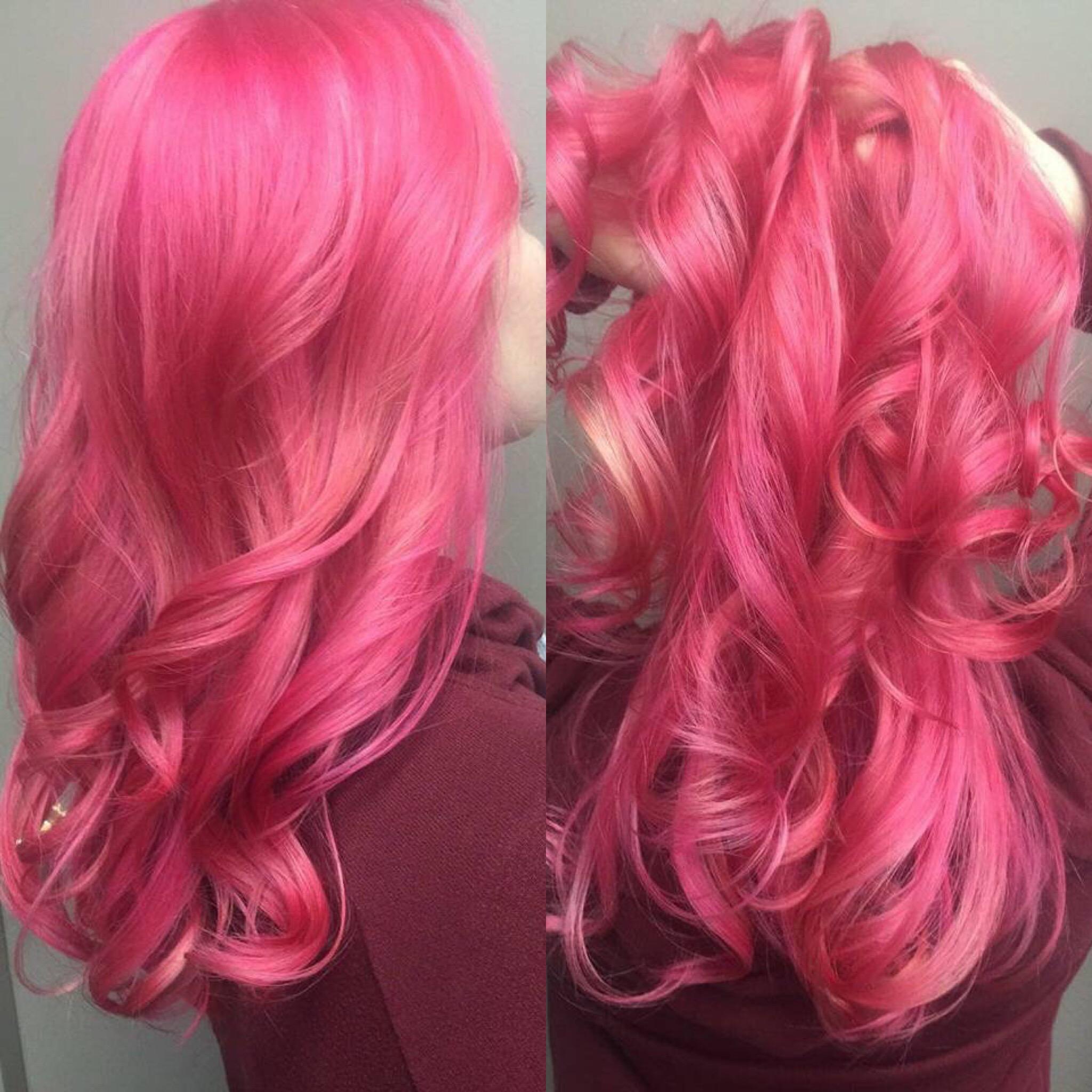 Pink hair colour Saskatoon