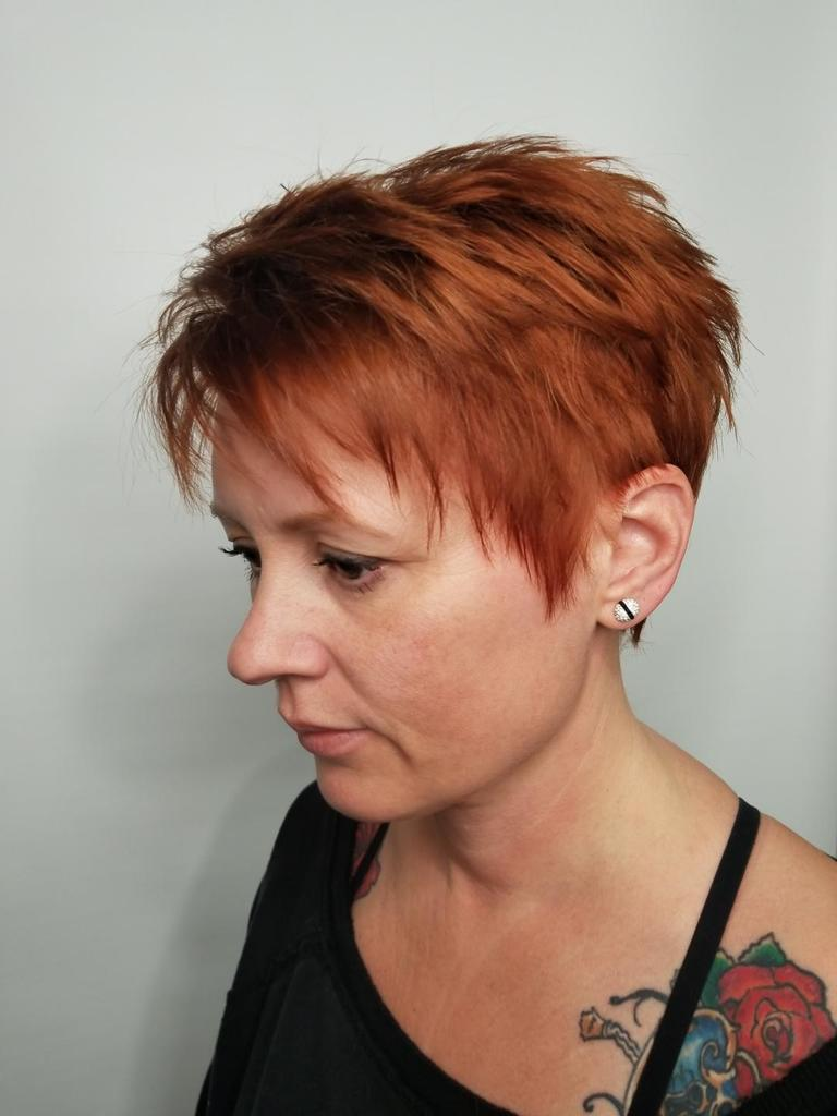 Pixie haircut Saskatoon salon