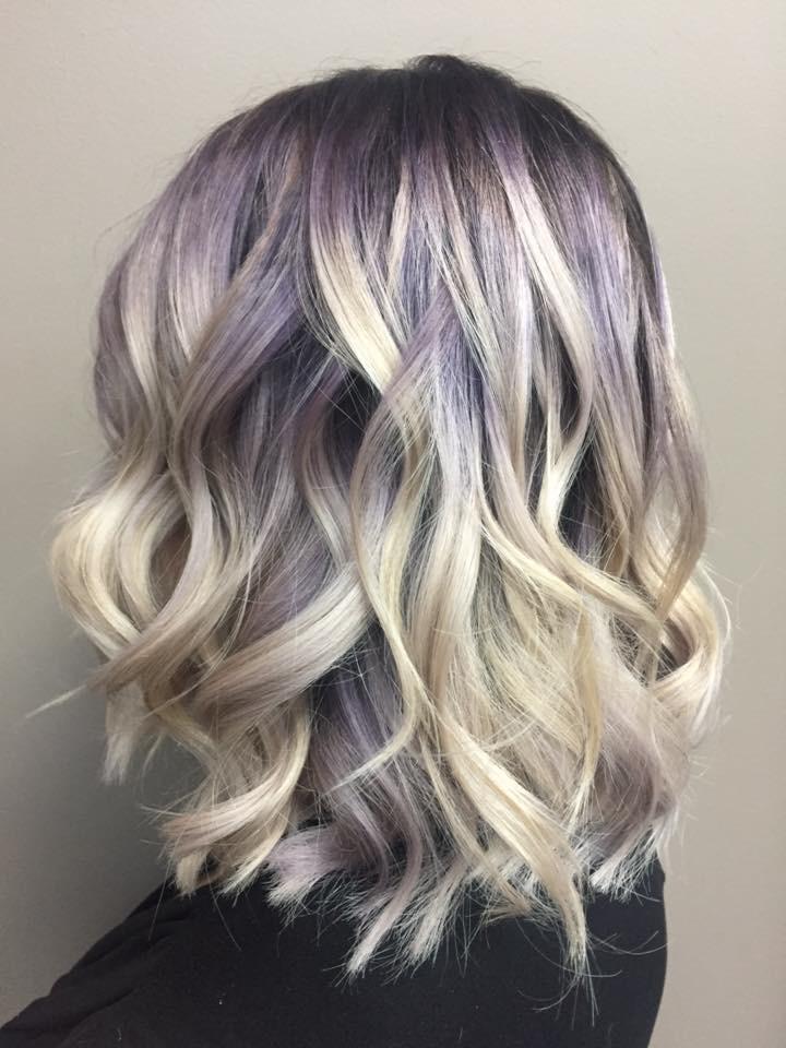 Purple blonde hair Saskatoon