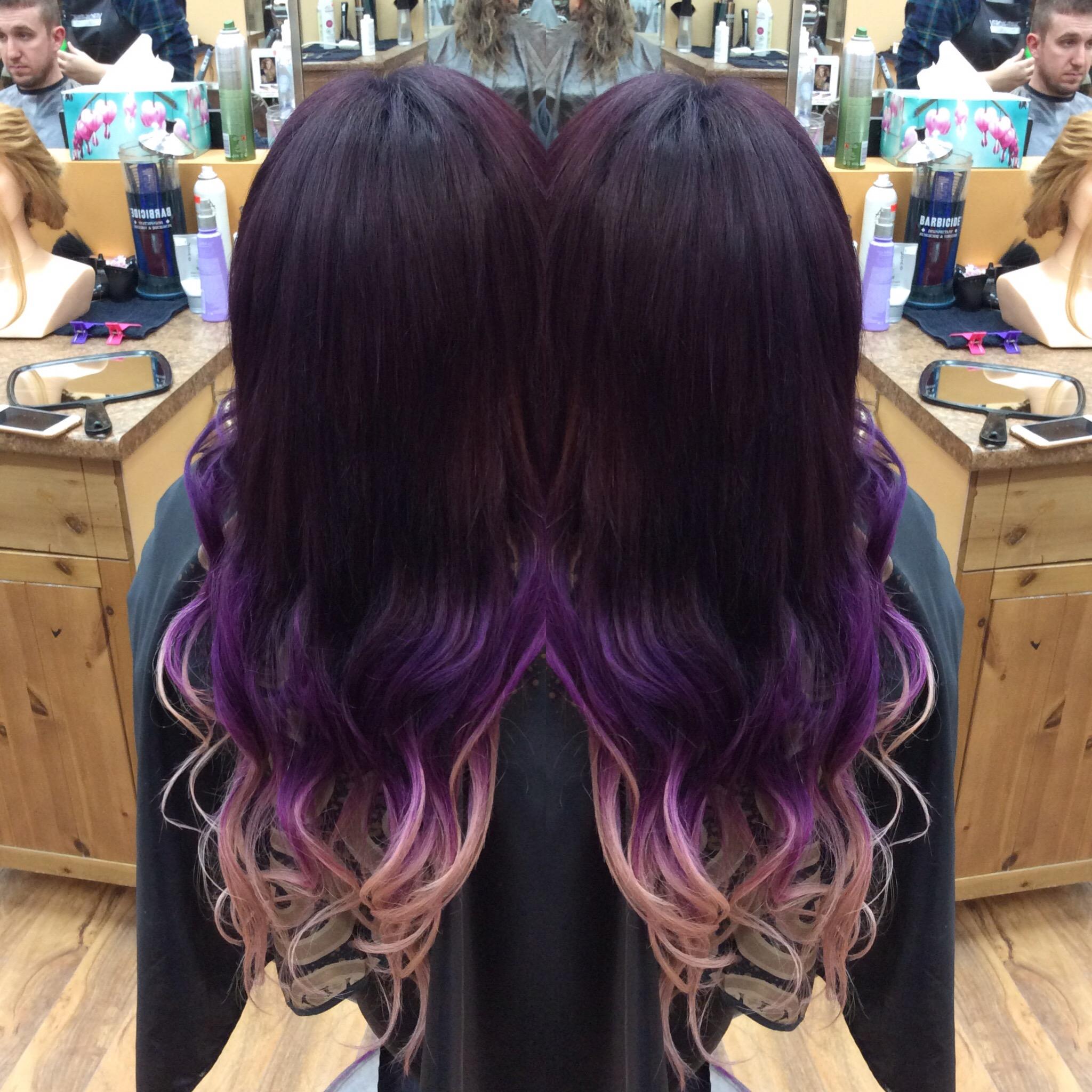 Purple pink hair style at Hairstyle Inn Saskatoon