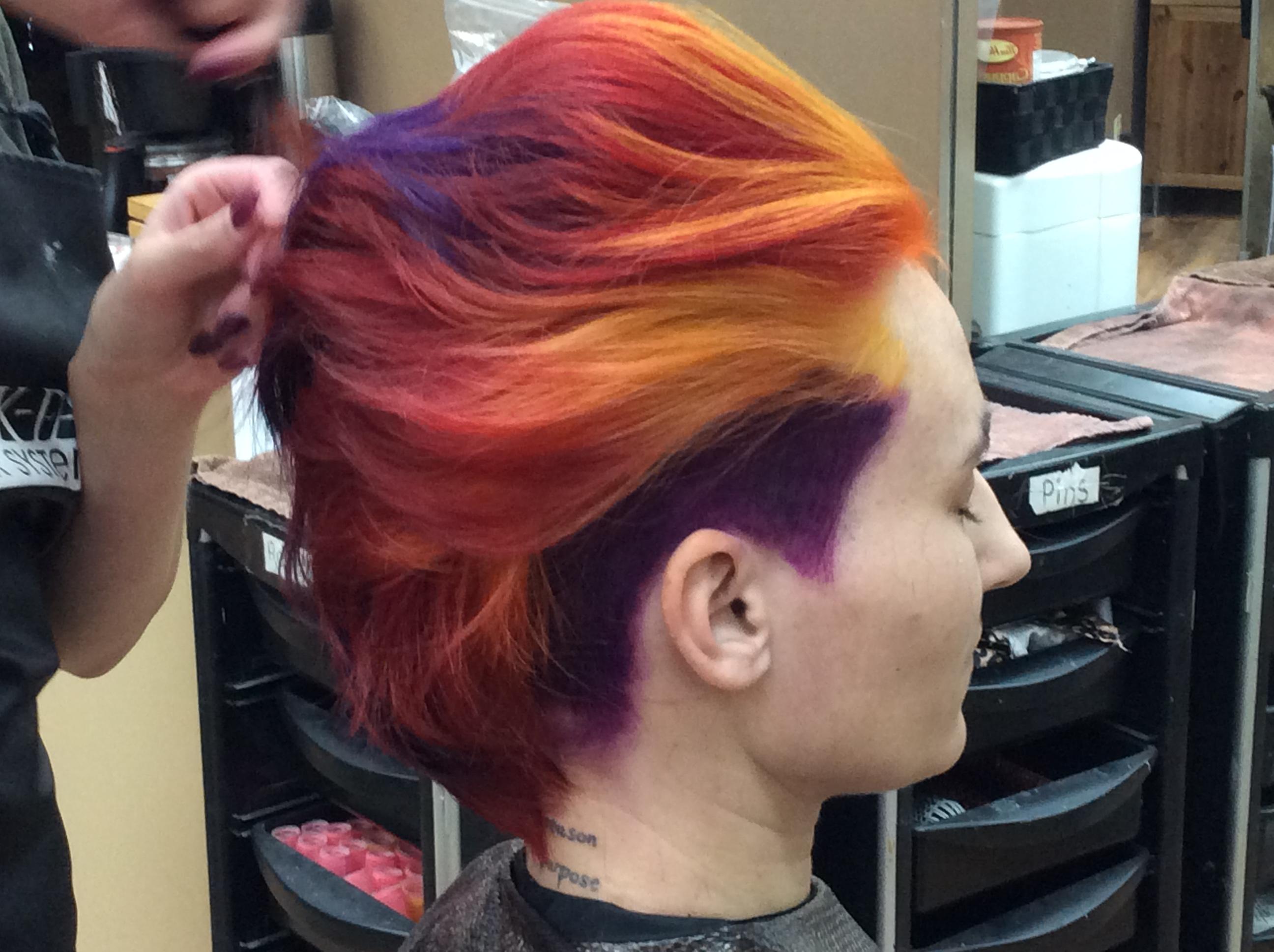 Purple hair Saskatoon