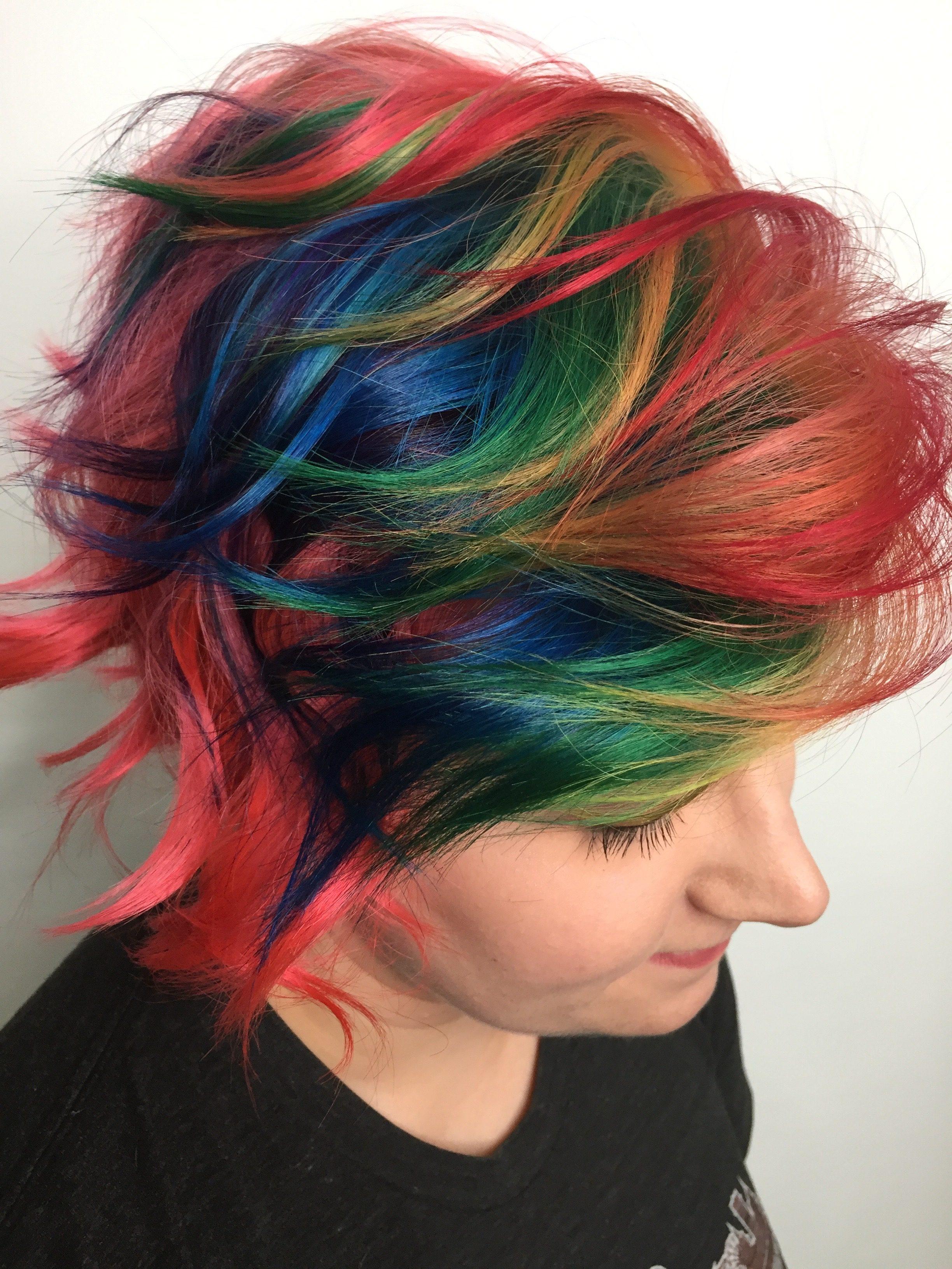 Rainbow hair style Saskatoon