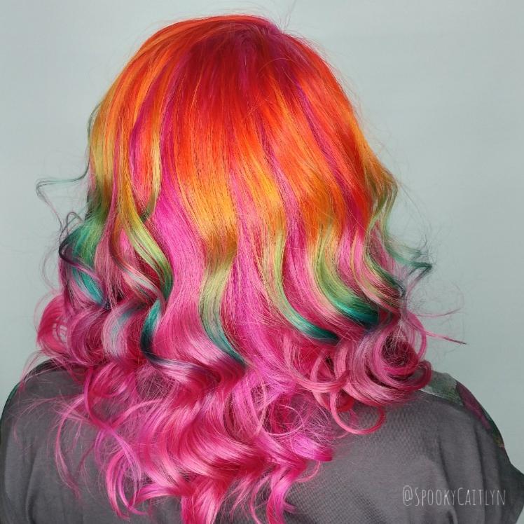 Rainbow hair highlights Saskatoon