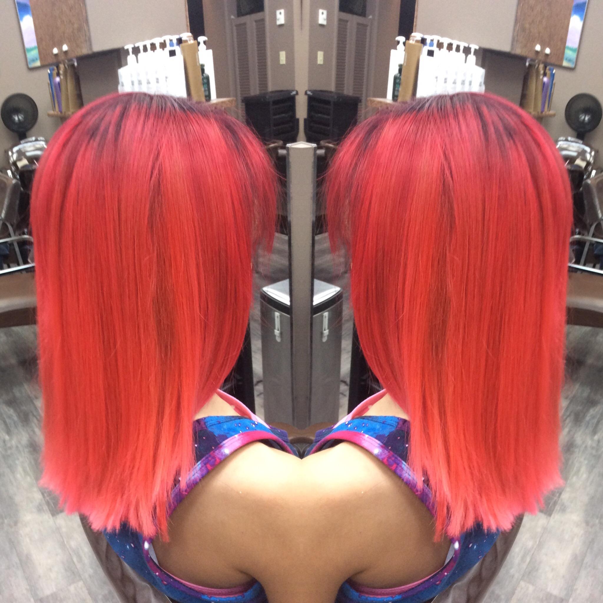 Red hair hairstyle inn saskatoon