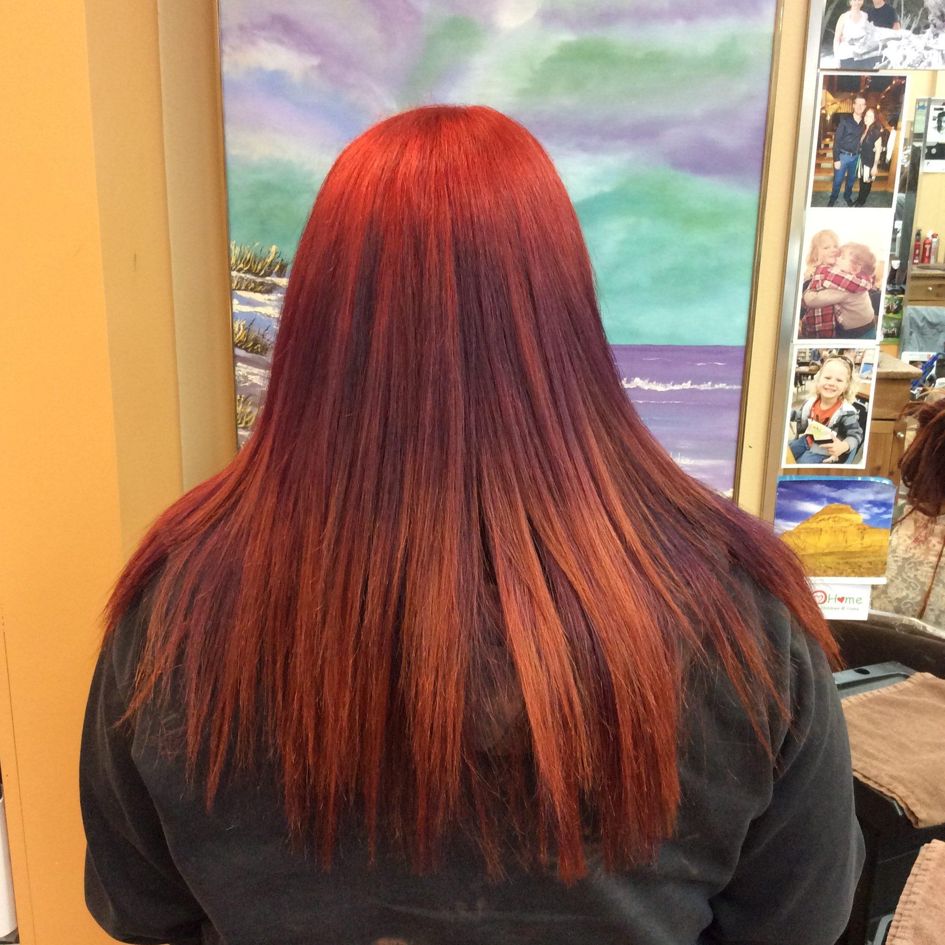 long hair Saskatoon hairdresser