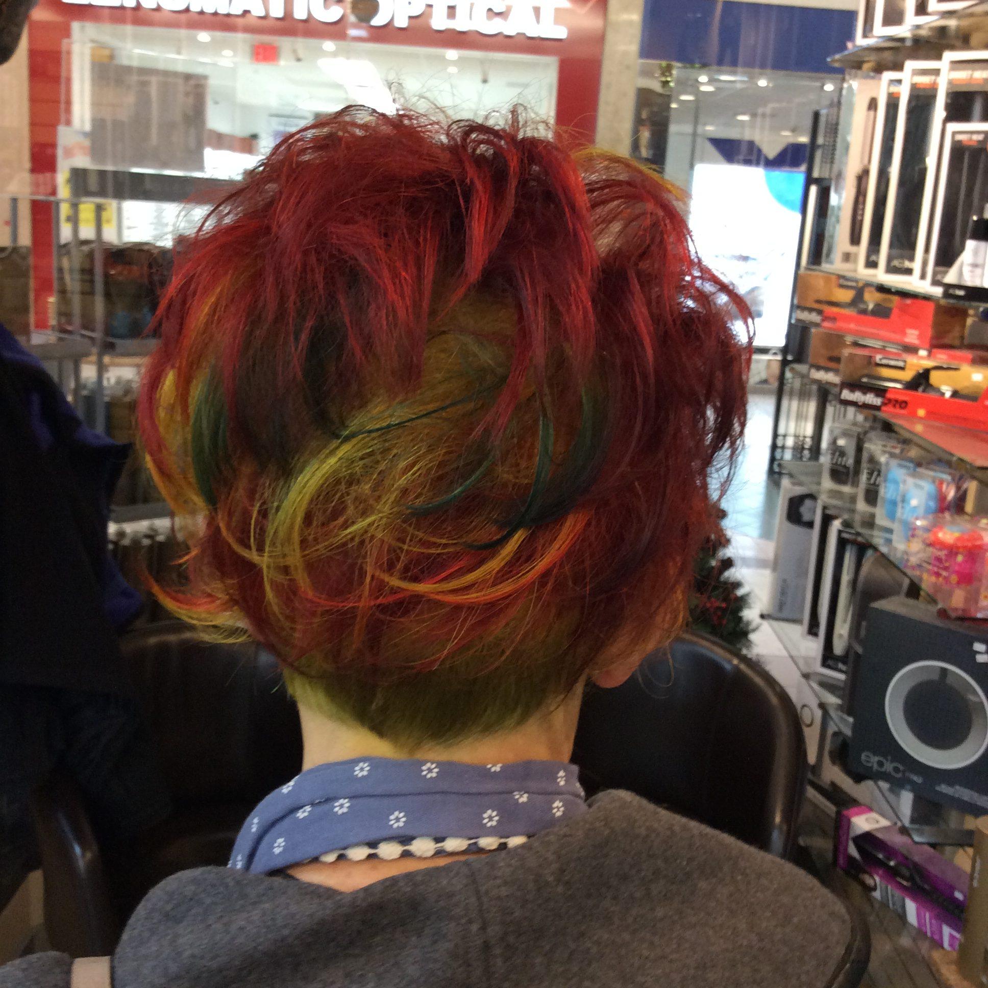 coloured short hair Hairstyle Inn