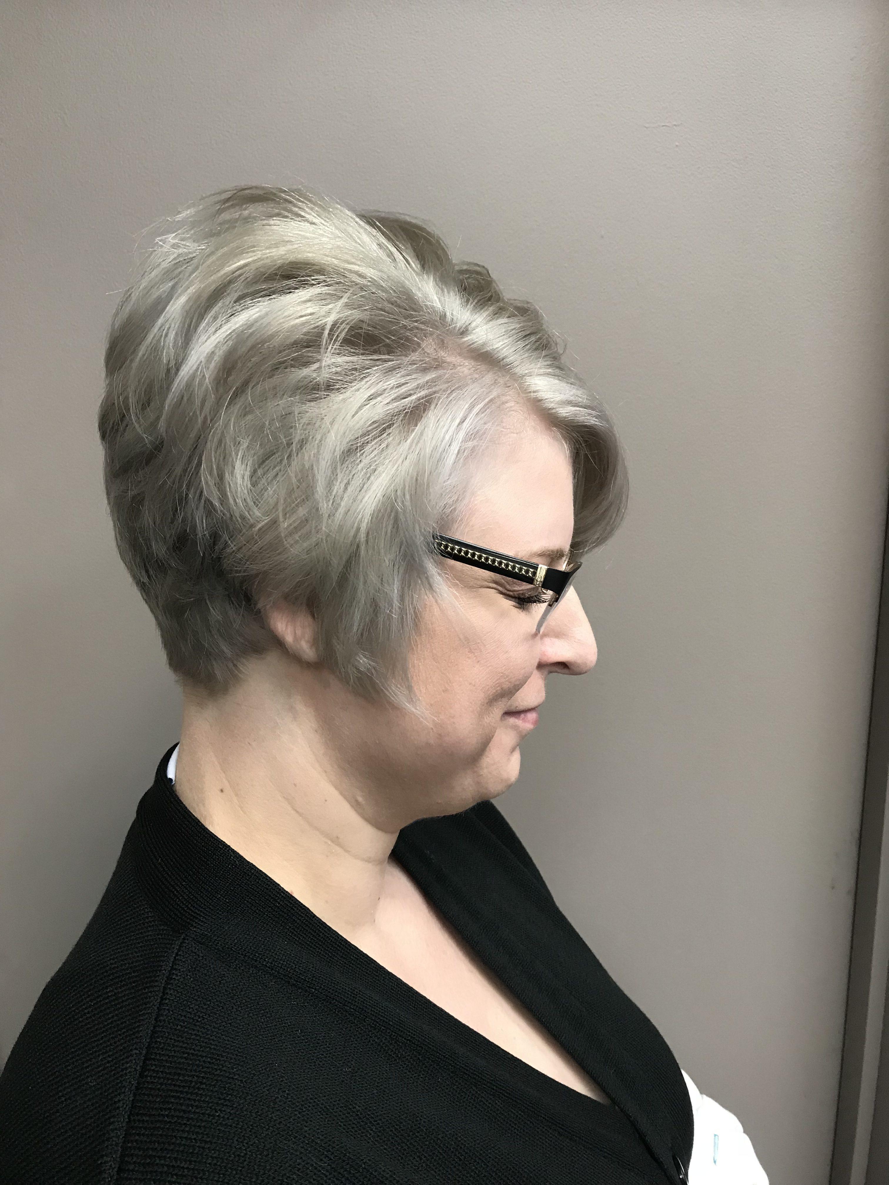 Short blonde hair cut Saskatoon
