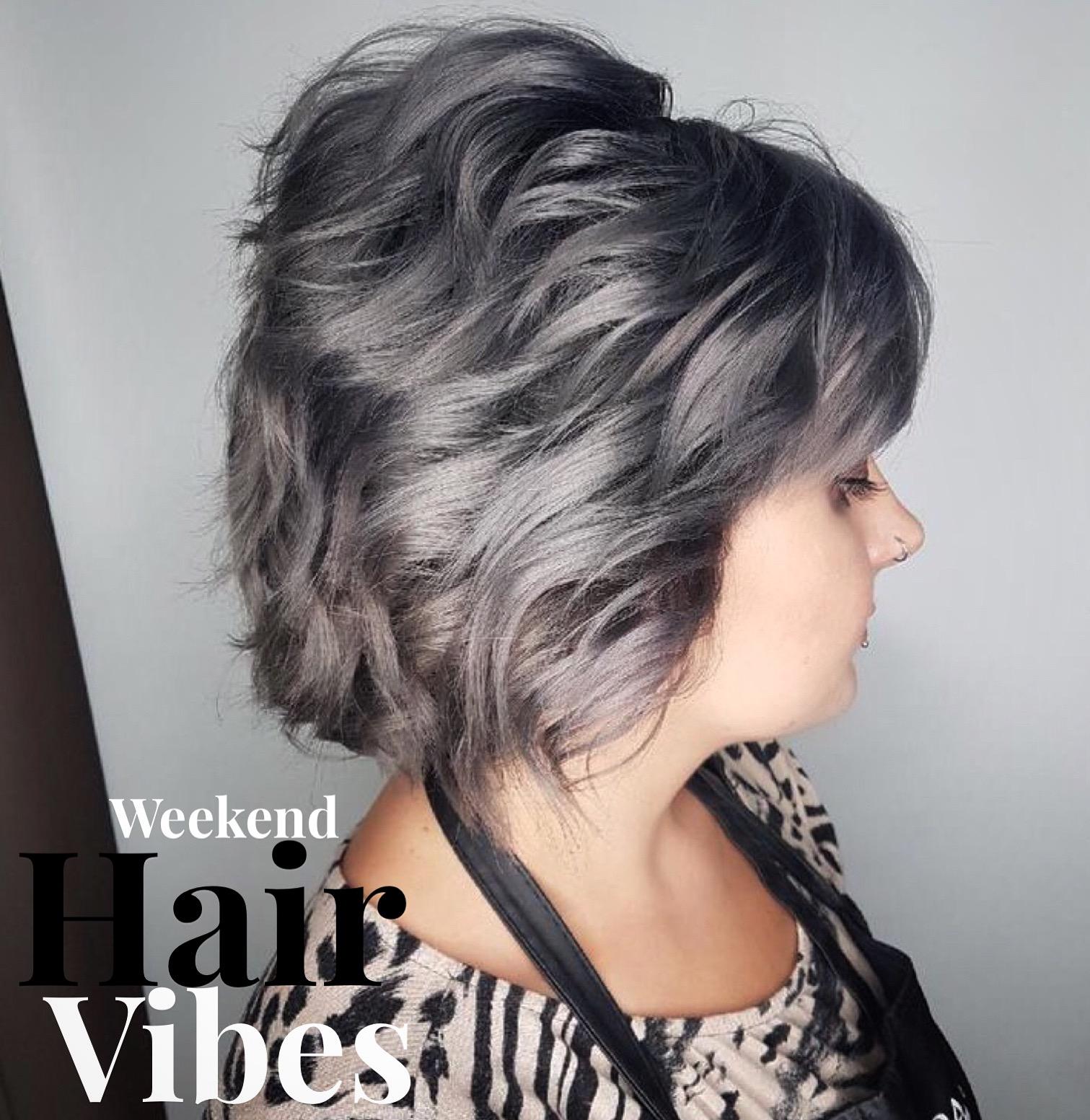 Silver hair hairstyle inn saskatoon