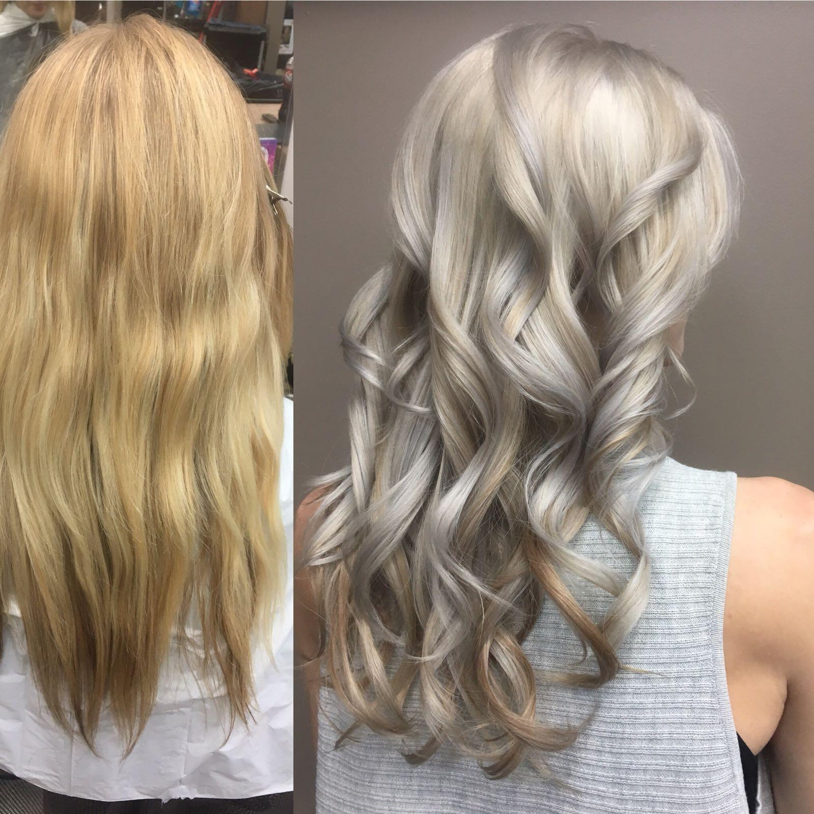 Silver long hair hairstyle inn saskatoon
