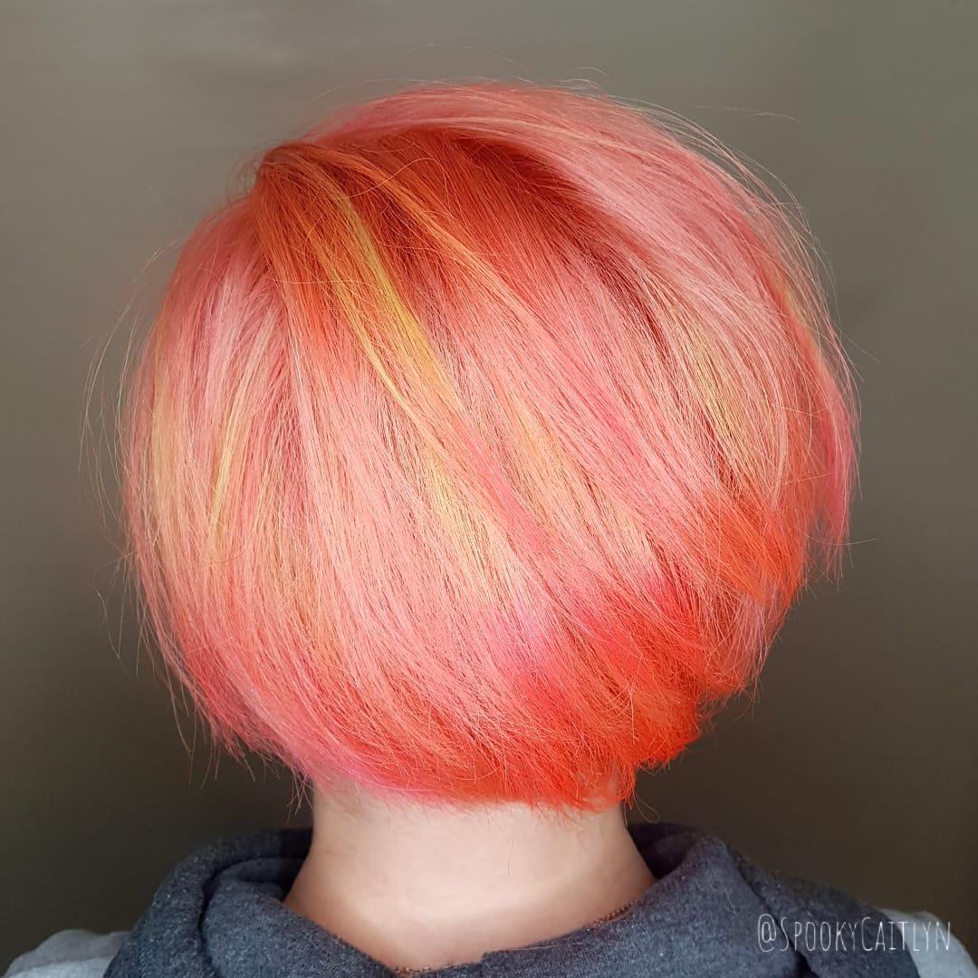 neon hair Saskatoon salon