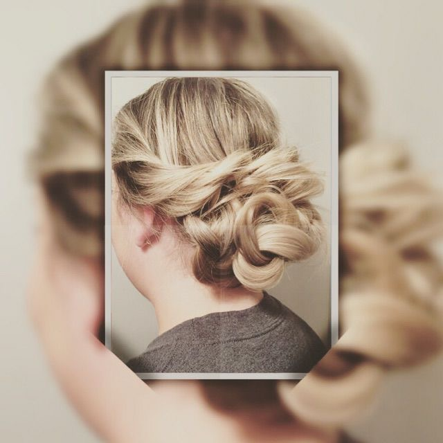 Up-do hair style at hairstyle inn Saskatoon