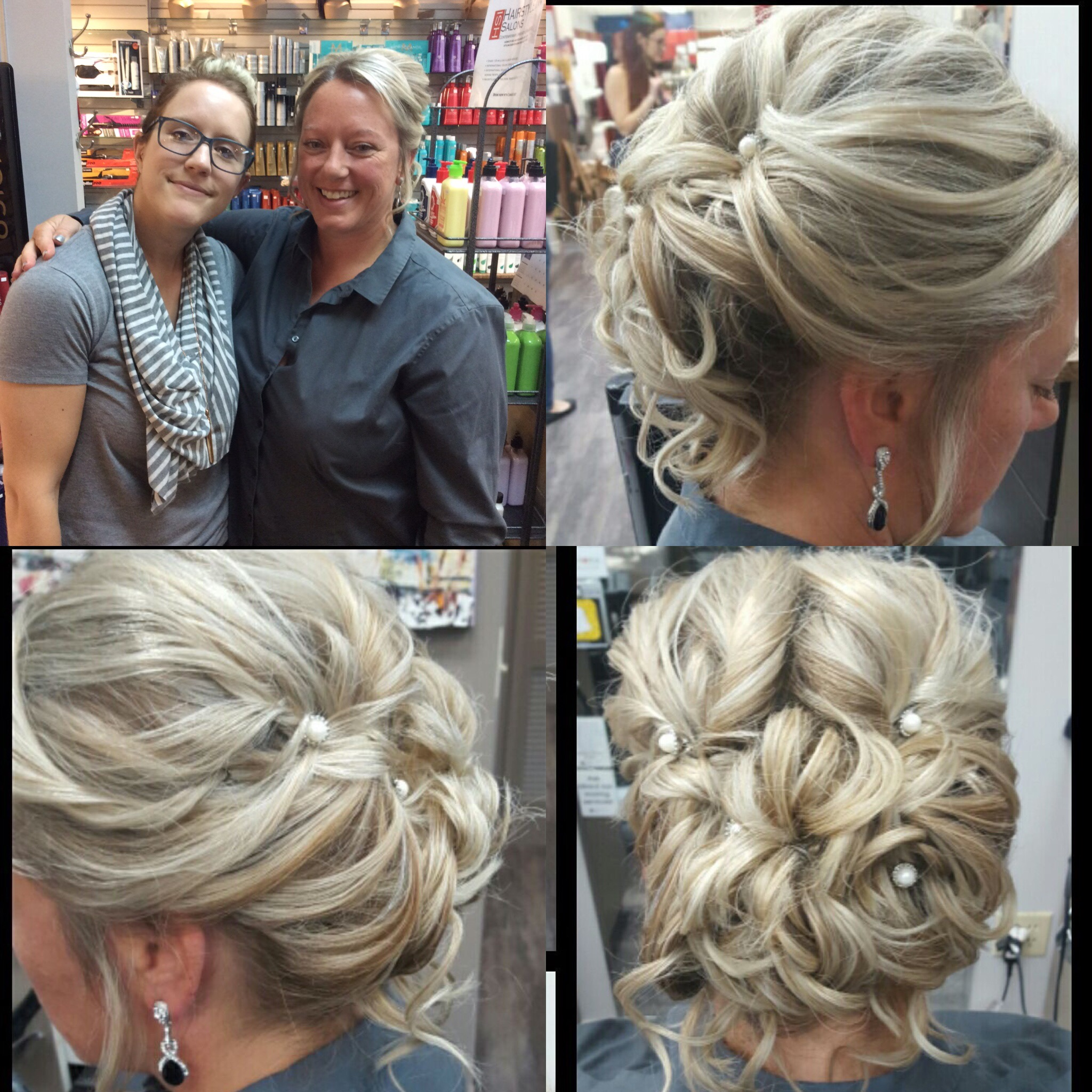 Wedding up-do hair style at hairstyle inn Saskatoon