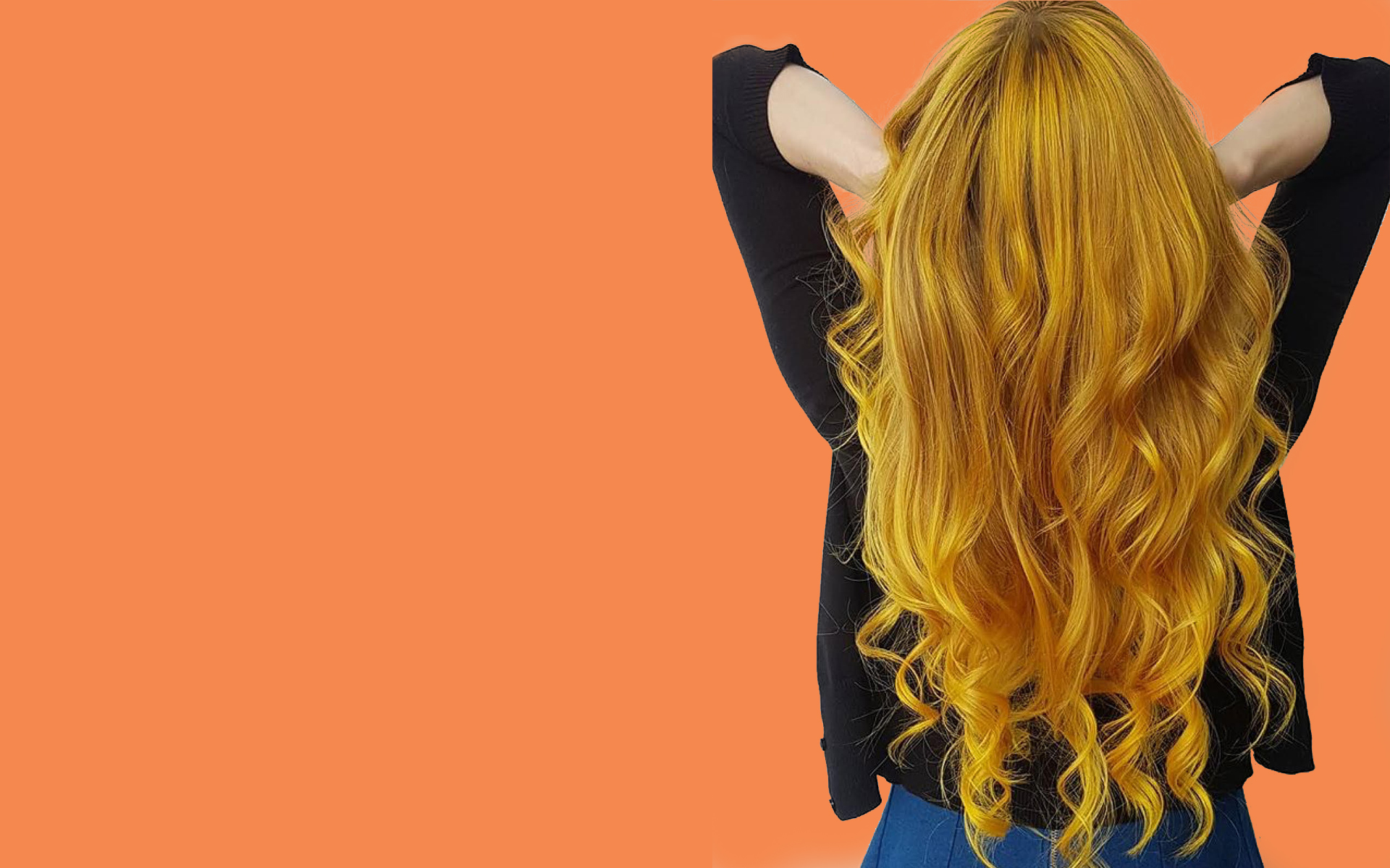 long orange hair color Saskatoon