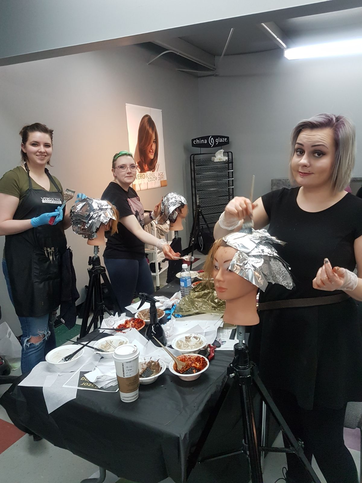 Hair coloring team at hairstyle inn saskatoon