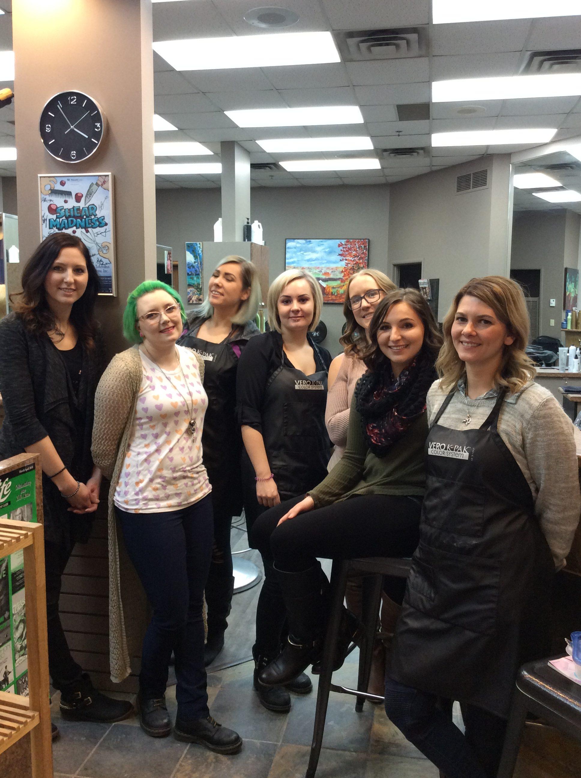 Team hairdressers at hairstyle inn saskatoon