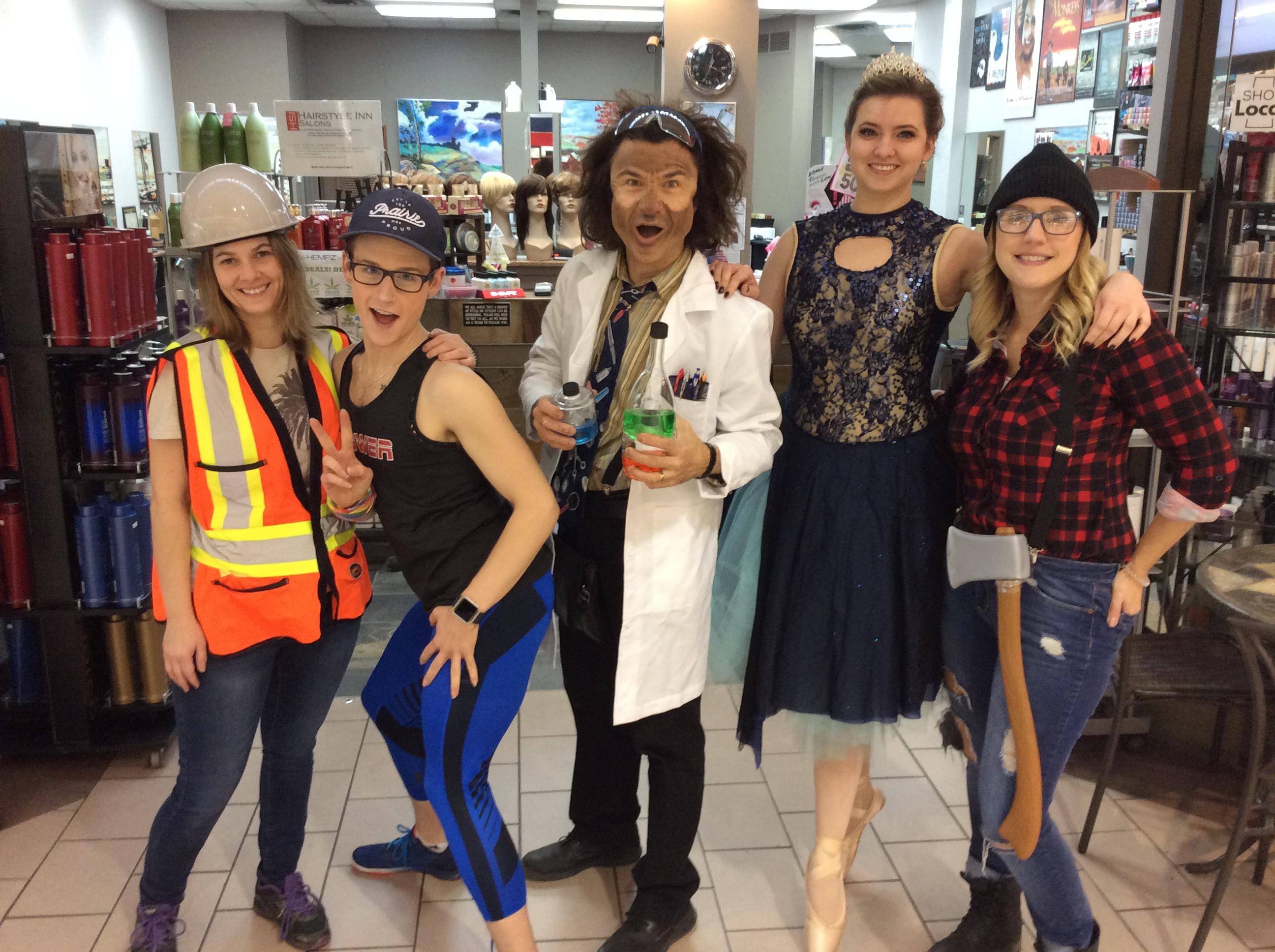 Team Halloween at hairstyle inn Saskatoon
