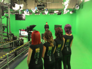 Hairstyle inn team at TV studios Saskatoon
